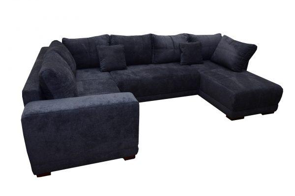 kék u-alakú ülőgarnitúra