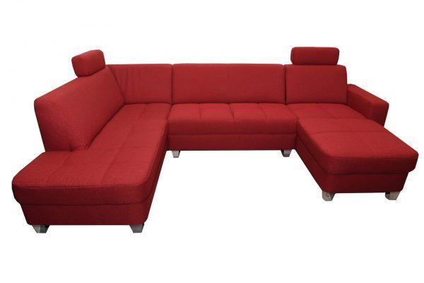 bordó u-alakú ülőgarnitúra